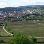 Blick auf Bad Dürkheim und WoMo Stellplatz