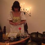 Shanti  Zeremonie- Vorbereitungen in Lenzburg