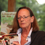 Starautorin Livia Klingl beim 1. Literaturfestival am See