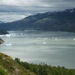 Lac Grey à Torres Del Paine
