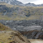 cendre volcanique sur le glacier Vatnajökull