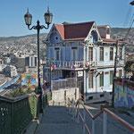 Valparaiso - balade dans les rues et çà monte fortement!