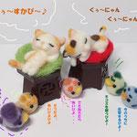 居眠り猫さん達とタゴノスケ