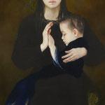 「椿の母子」100×47/2019