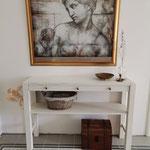 """Nachhar. Painting the Past matt """"Raw Umber"""" und darüber """"Historical White"""""""