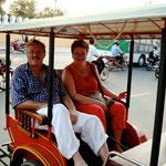 In der Rikscha in Vietnam