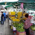 China-Town, Blumen + Gemüsemarkt in Bangkok
