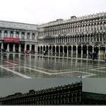 Piazza Grande überschwemmt.