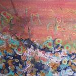 Tanzende Blumen 50x70