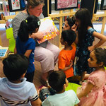 Jill Calder - Live Events - British Council Pakistan - Storytelling time in Lahore Library