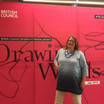 Jill Calder - Live Events - British Council Pakistan - 'Drawing Words' exhibition and workshops