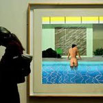 david hockney - pool on the wall