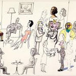 saul steinberg - techniques at a party