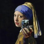 johannes vermeer - the girl with the camera