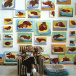 david hockney - doggies