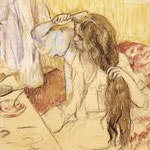 degas - brushes her hair