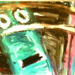 schrik - acryl op papier 82