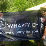 Whapfy-Fahne schon voll im Gebrauch