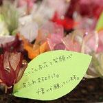 参加者から被災地に向けたメッセージ