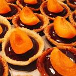 Minis tartelettes abricot chocolat