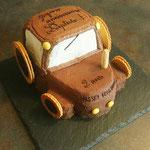 Tracteur tout chocolat, Gâteau personnalisé