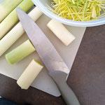 Julienne de poireaux, Légume frais