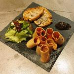 Copeaux de foie gras, Entrée gastronomique