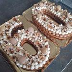 Number Cake 60 ans, Gâteau anniversaire personnalisé