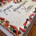 Fraisier 35-40 personnes, Lola Campagne, Traiteur anniversaire