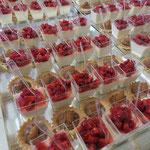 Plateau desserts, Pièces sucrées