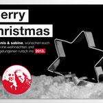 Weihnachtskarte Denis & Sabine