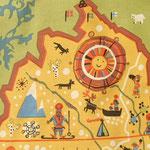ラップランドにはサーミ族やトナカイの姿が