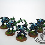 Eldar warp spiders painted miniatures