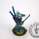 Custom made eldar autarch with warp jump generator