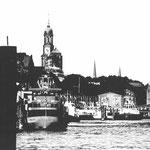 Landungsbrücken Schwarz 30 x 21 cm