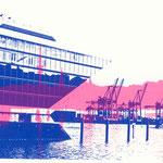 Dockland blau und Alster pink