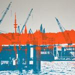 Dock 11 und Alster  29,7 x 20,6 cm