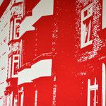 Hausfassade Rot  29,3 x 20,6 cm