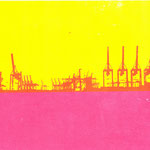 Containerkrane  28,7 x 16,5 cm