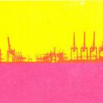 Containerkrane  28,7 x 16,5 cm - verkauft