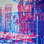 Spielbudenplatz und Astraturm  29,2 x 20,5 cm