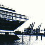 Dockland schwarz auf blau