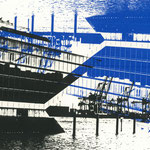Dockland upside down, Schwarz und Blau