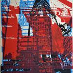 Astraturm, Rathaus und Hausfassade  29,3 x 21,2 cm