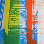 Astraturm, Alster und Gelb  30,6 x 24,5 cm