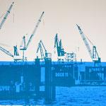Dock 11 und Blau  29,2 x 20,3 cm - verkauft