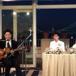 友達の結婚式にて