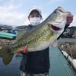 ■釣り人:高瀬様                     ■場 所:ディープホール                     ■リ グ:テキサス                     ■サイズ:56cm