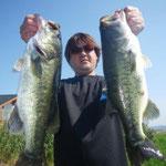 ■釣り人:坂本氏                 ■ウエイト:3060g  ■10月8日