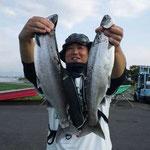 ■釣り人:首藤様                 ■場 所:安曇川沖                 ■リ グ:ビワマス                 ■サイズ:50~40cm 10本